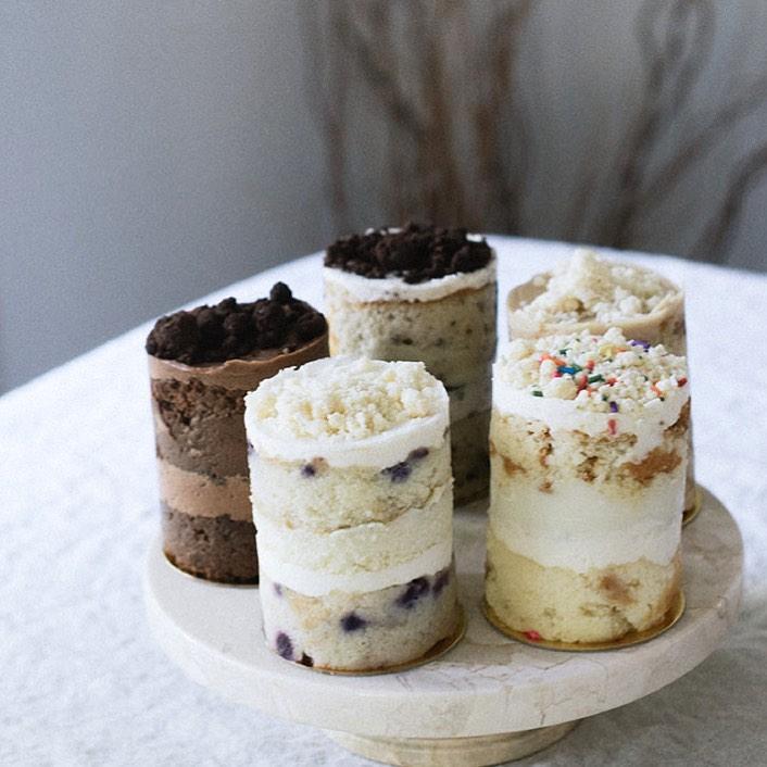 Daughters Baking mini cake