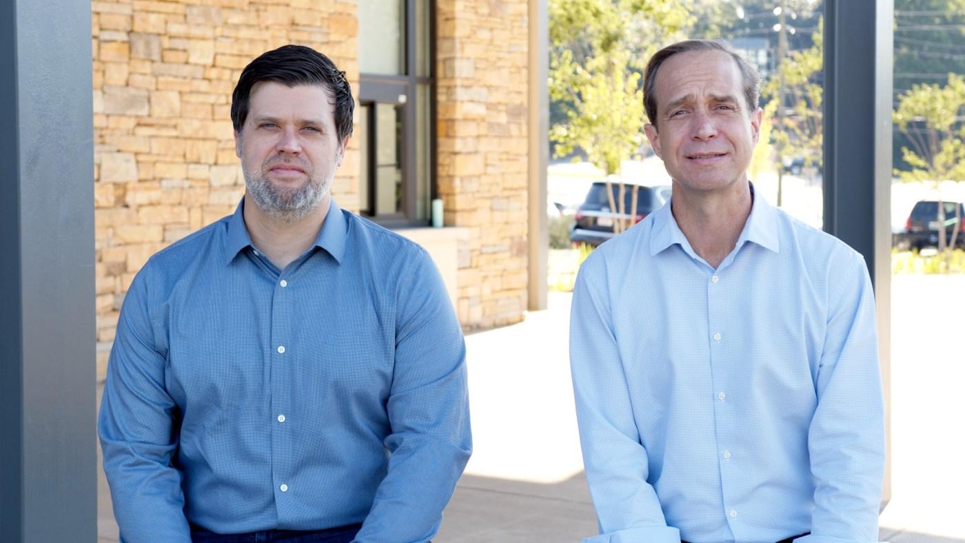Matt Foley and Stephen Allen at Wald Park