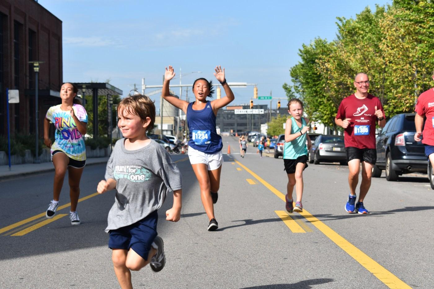 smiles, kids running 5K