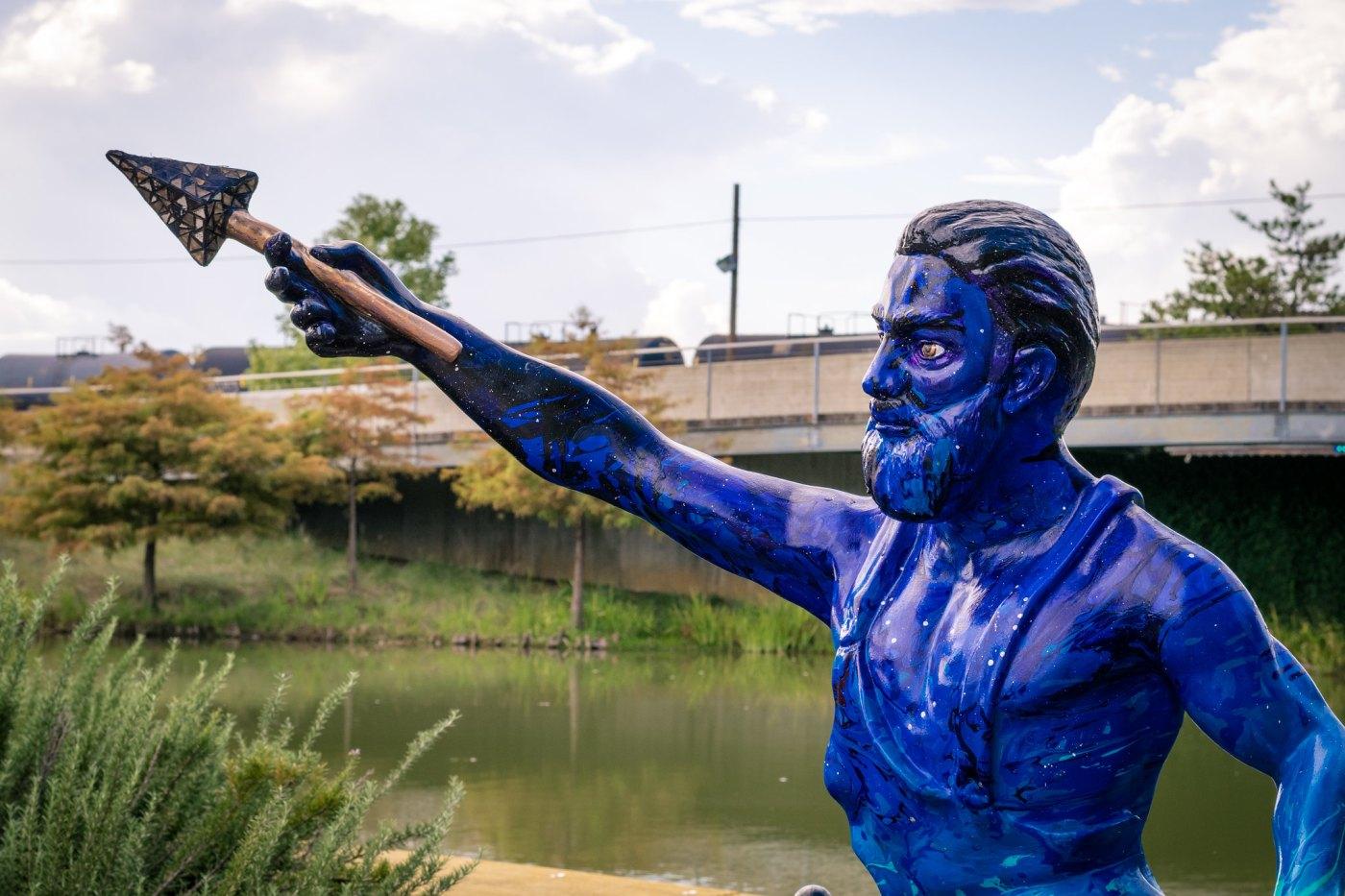 Vulcan statue at Railroad Park