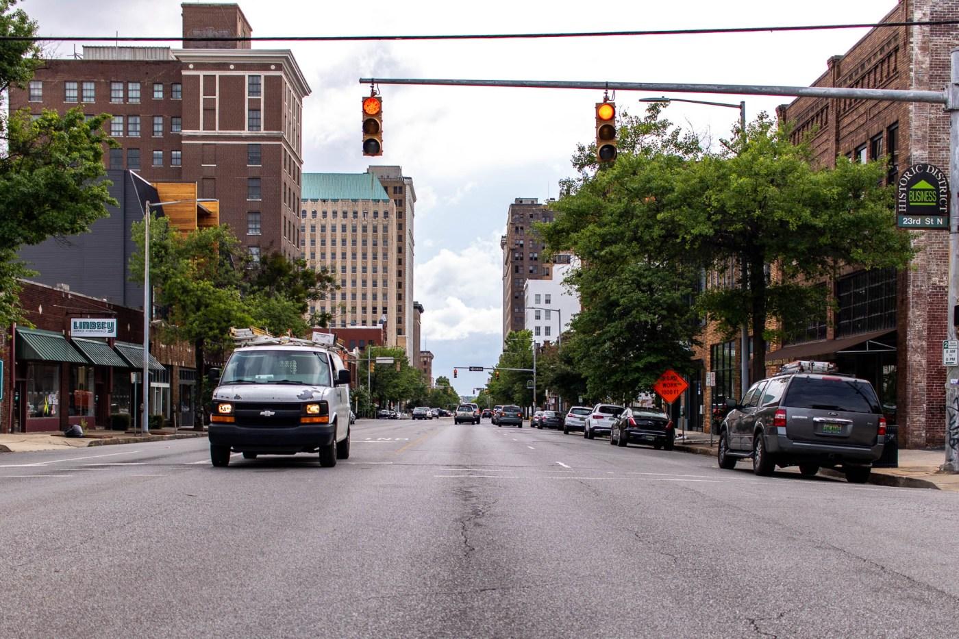 Birmingham drivers downtown traffic