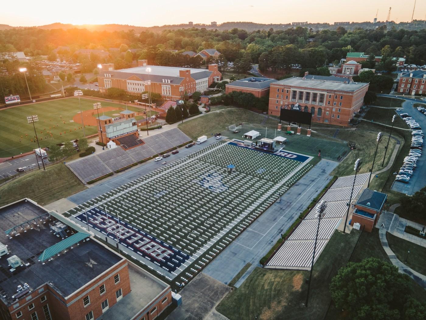 Samford University football field.