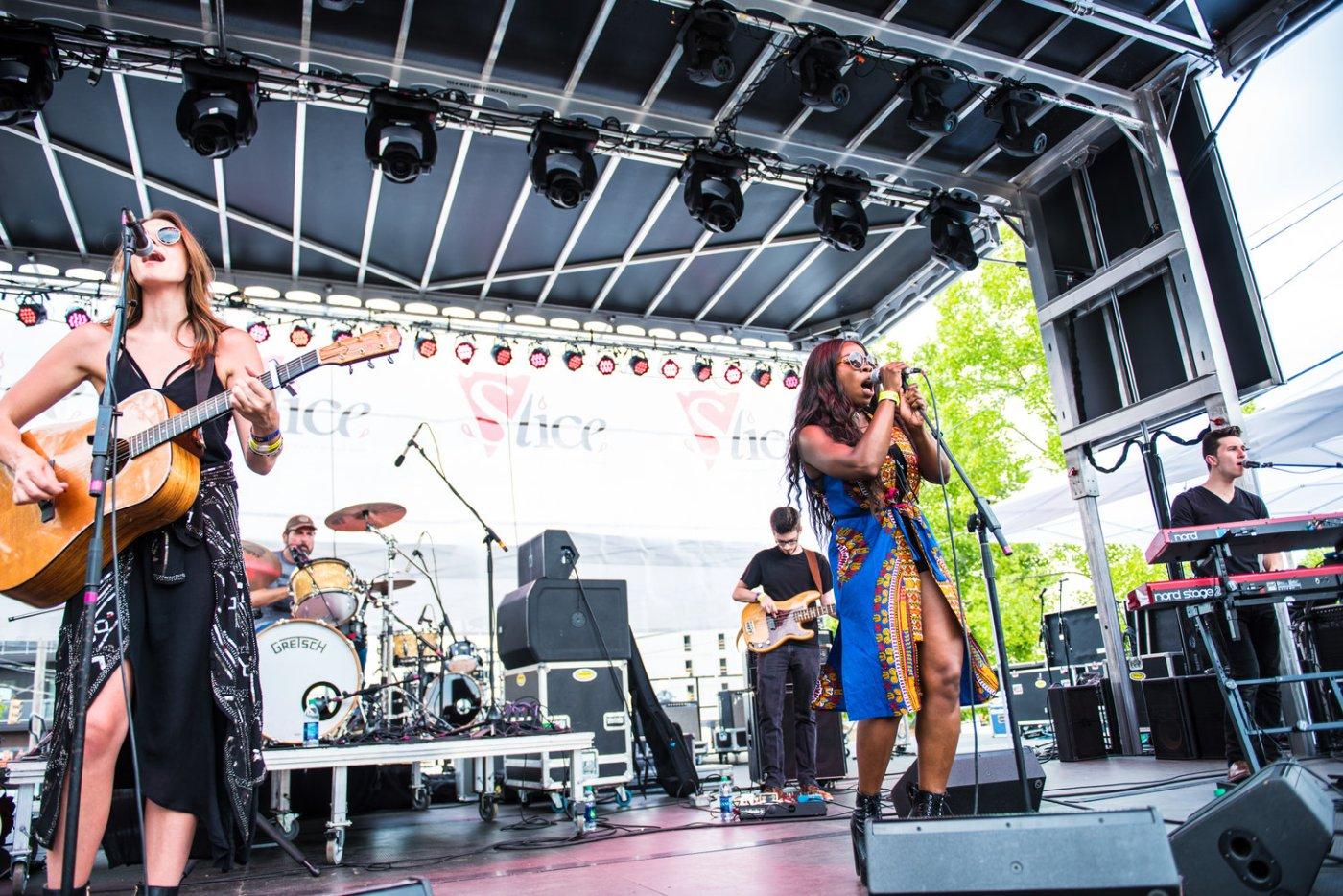 SliceFest 2021 musicians onstage