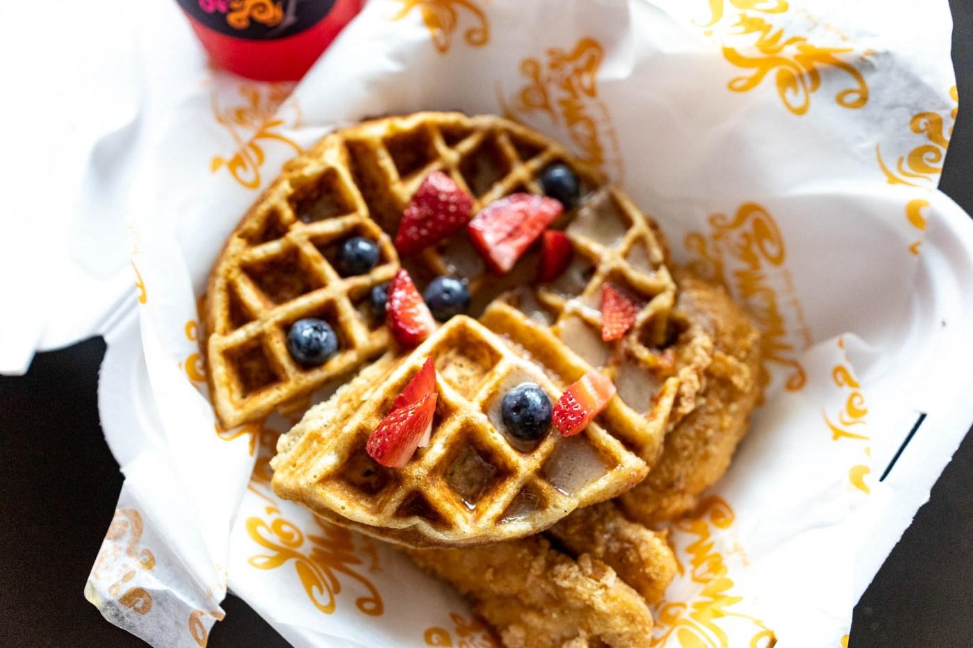 Yo Mama's chicken and waffles
