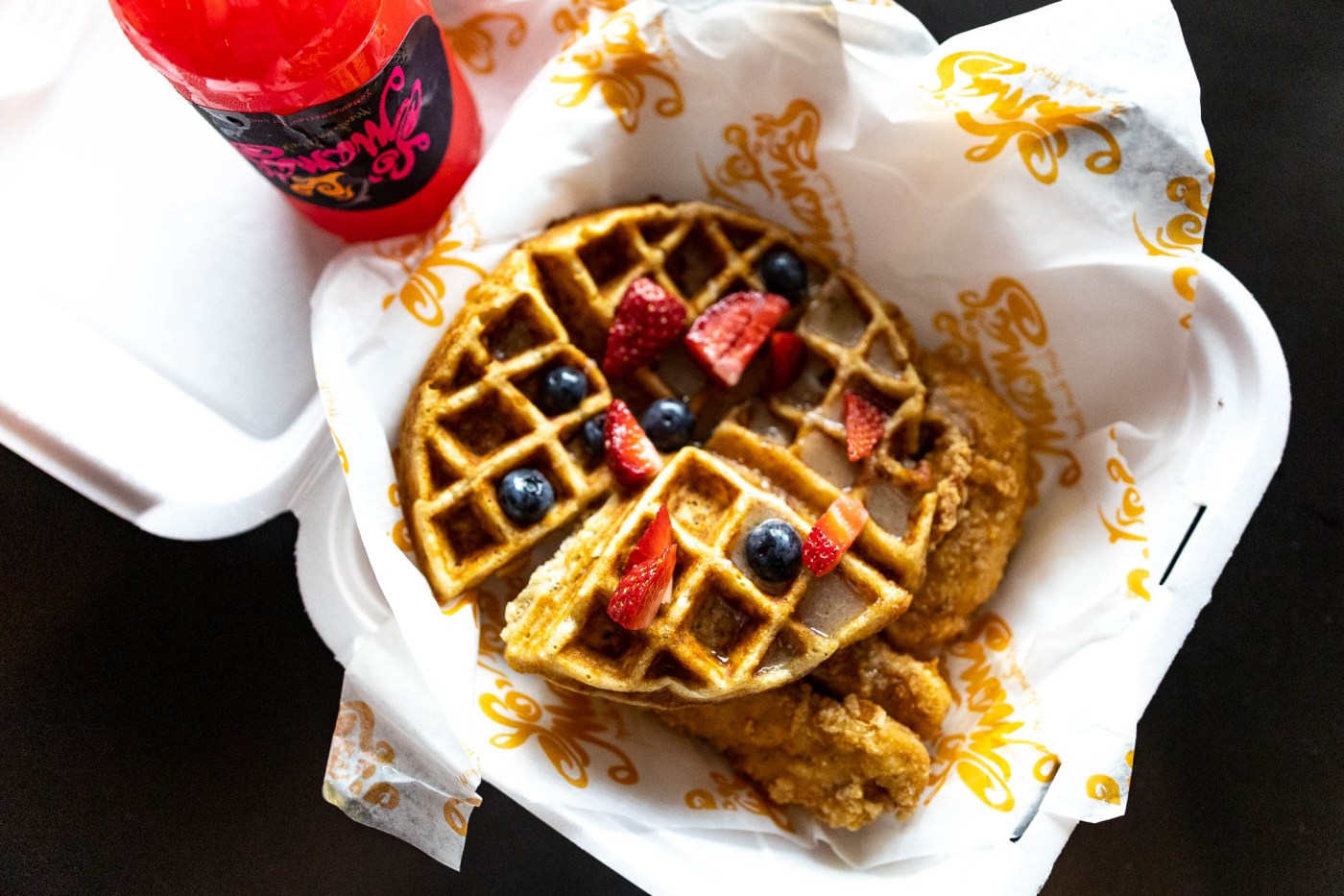 Yo Mama's chicken and waffles - best food Birmingham