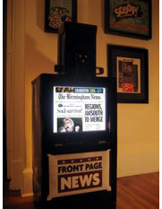 Scott Walker's digital newspaper box