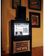 Scott Walker's digital newspaper box