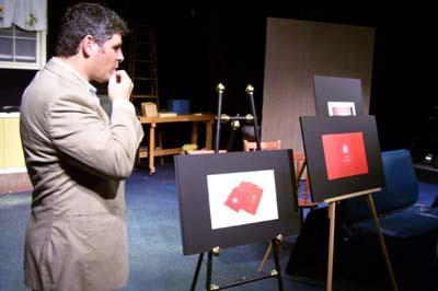 Kurlander presenting campaign to merchants