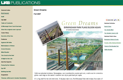Green Acres sotry screenshot - UAB Publications