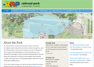 Screenshot from railroadpark.org