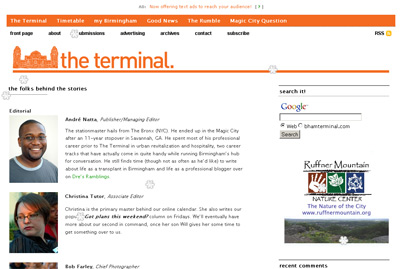 The Terminal's staff page