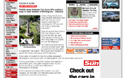 Screenshot of Birmingham Sun article