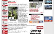 Screenshot of Birmingham Sun article