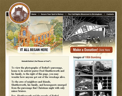 Rebuild Bethel website screenshot