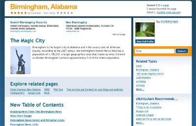 Birmingham, AL's Squidoo page