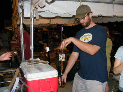 Good People Beer being served at BrewFest 2008 in Bimingham, AL.