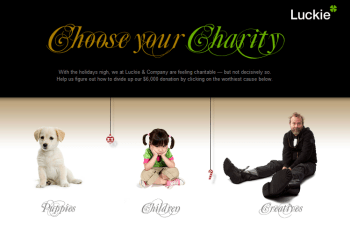 Luckie Choose Your Charity screenshot