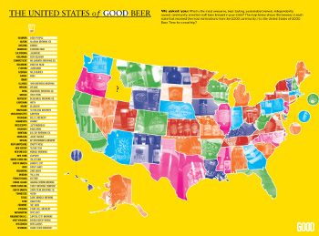 Map of GOOD Beer. Courtesy of GOOD Magazine