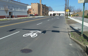 Bike Lane on 14th Street South.