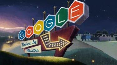 Google Doodle drivein still