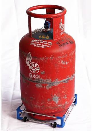 Gas Cylinder is Red