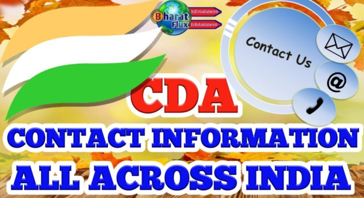 CDA CONTACT INFORMATION ALL ACROSS INDIA