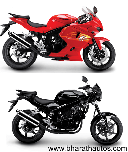 Hyosung GT250 to be launched in India by March 2012