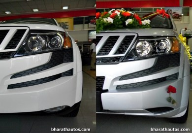 Mahindra Xuv500 W8 And W4 Side By Side Visual Comparison Front