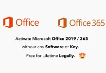Activate Office 2019 without any software