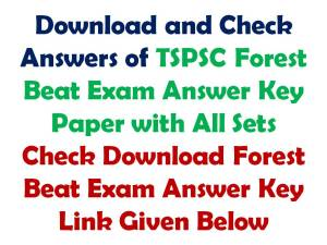 29 October Forest Beat Exam Answer Key