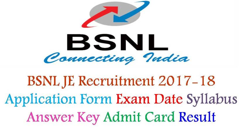 BSNL JE Recruitment Admit Card Result