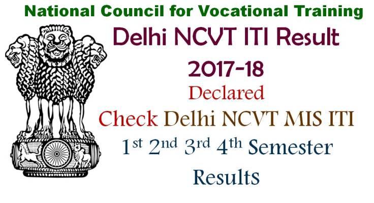 Delhi NCVT ITI Result 2017 Checl All Sem Results