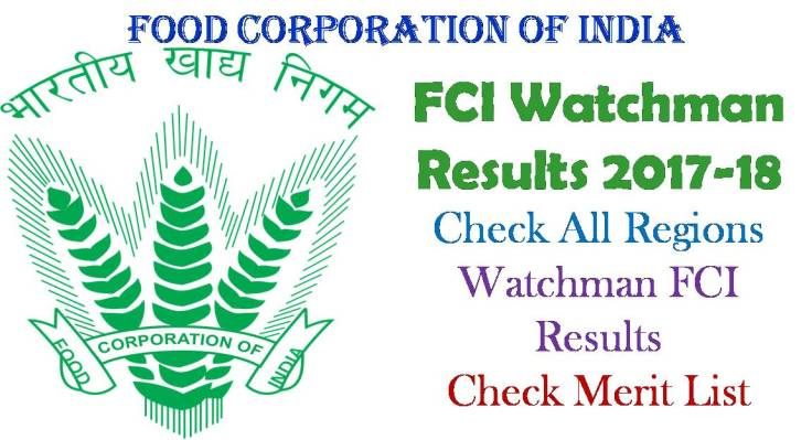 FCI Watchman Results 2017-18
