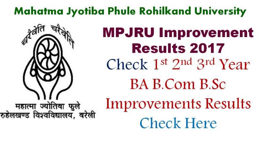 MJPRU 2017 Improvement Results