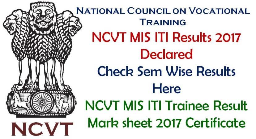 NCVT Odisha ITI Results 2017 All Semesters