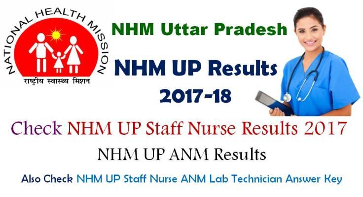 NHM UP Staff Nurse Results