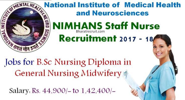 NIMHANS Staff Nurse Recruitment 2017