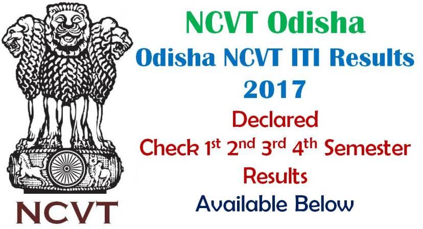 Odisha NCVT ITI Results 2017