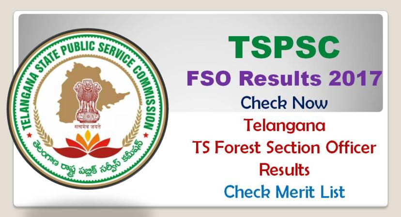 TSPSC FSO Results Check Forest Section Officer Results 2017