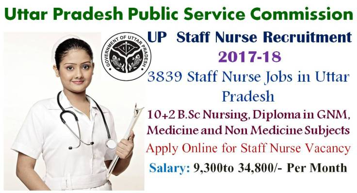 Uttar Pradesh UP Staff Nurse Recruitment