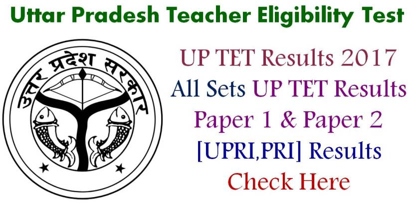 UP TET Results - All Sets and Paper 1 & Paper 2 Results