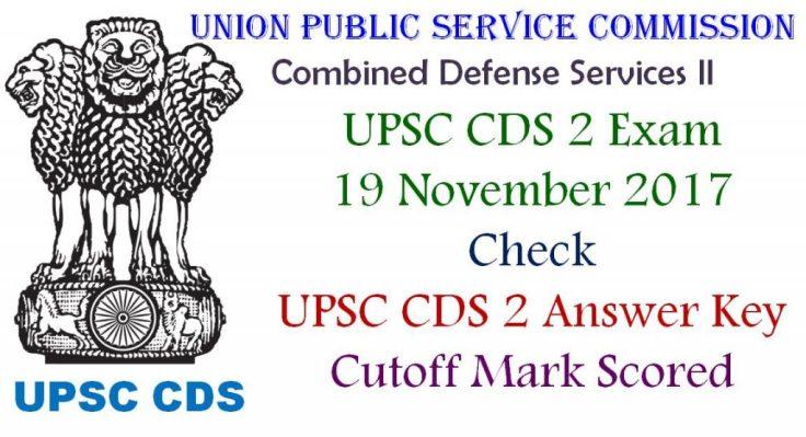 UPSC CDS II Answer Key for 19 November Exam