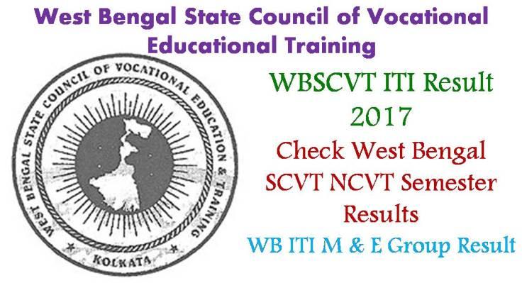WBSCVT ITI Result 2017-18