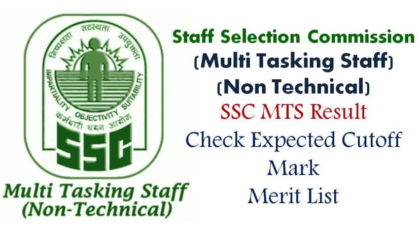 SSC Multi Tasking Exam Results