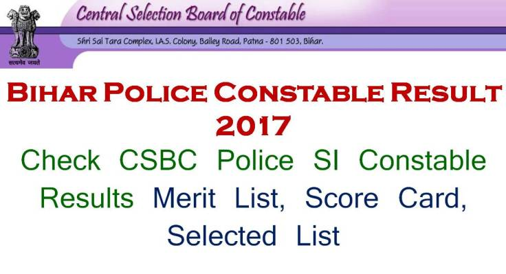 Bihar Police Constable Result Date Check Now