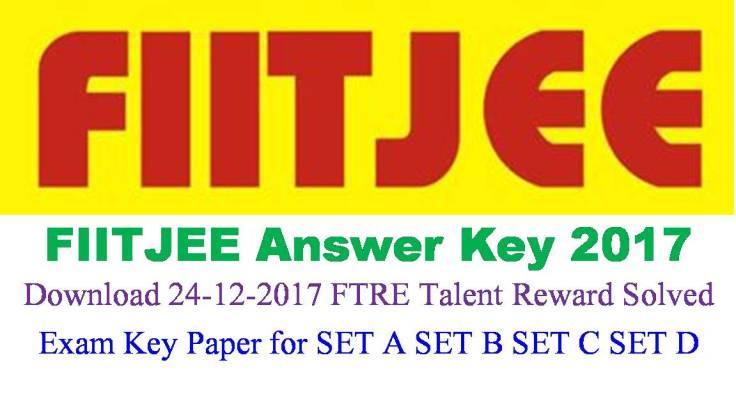 FIITJEE FTRE Talent Reward Exam Answer Key