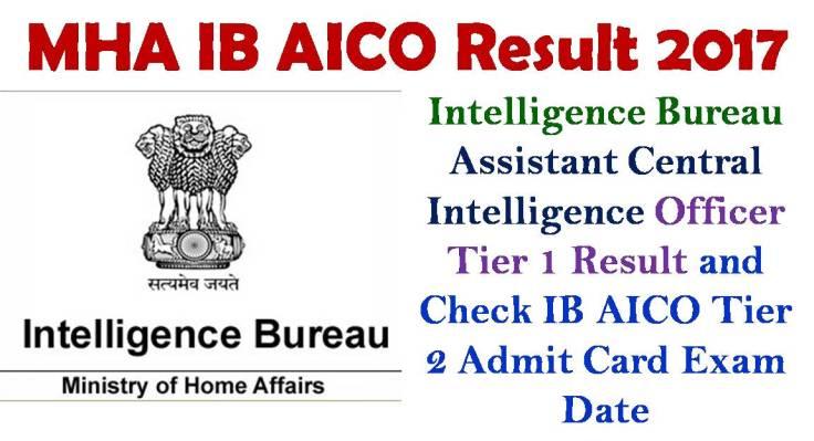 MHA IB ACIO Tier 1 Result