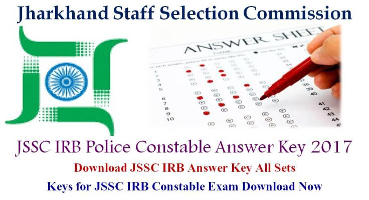 JSSC IRB Constable Answer Key 2017 for 03 10 17 December Exam