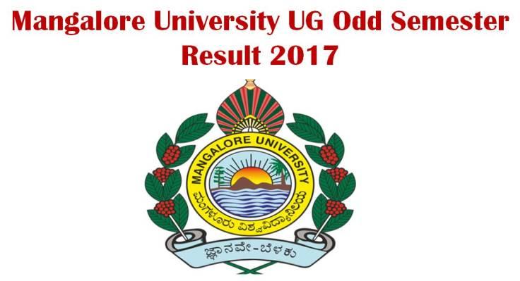 Mangalore University UG Odd Semester Result Check Now