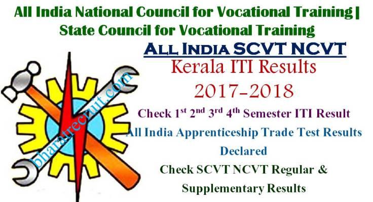 NCVT SCVT Kerala ITI Results All Sem